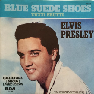 "Elvis Presley - Blue Suede Shoes (7"") (EX+/EX+)"